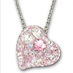 Authentic Swarovski crystal heart necklace